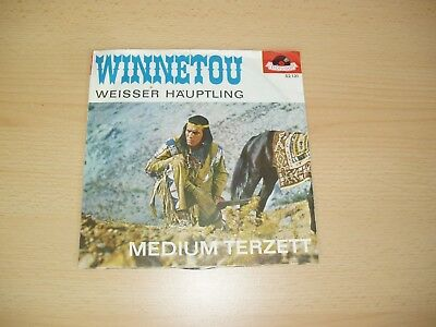 "Medium Terzett: Winnetou / Weißer Häuptling 7"" Single (1963) Polydor 52 131"