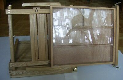 Portable Wood Countertop Jewelry Display Cases - Natural Pine