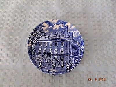 Liberty Blue Historic Colonial Scenes English Staffordshire Mini Plate