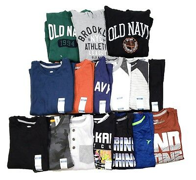 Old Navy Boys Assorted T-Shirts Lot of 16 All Size S (6-7)