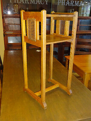 Arts & Crafts Signed Stickley Brothers Tabourette Stand Side Table Oak