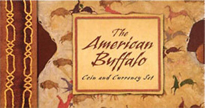 2001 American Buffalo Coin & Currency Set  $5 Rep Note 21¢ Bison + a 10¢ Stamp