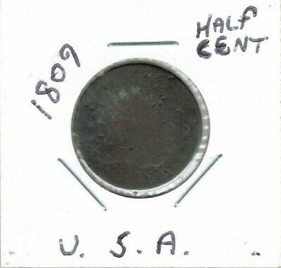 1809 Classic Head Half Cent Circulated Coin!