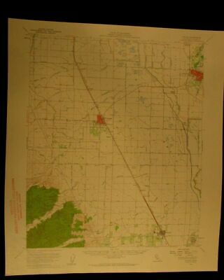 Colusa California 1960 vintage USGS Topographical chart map