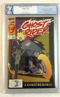 Ghost Rider #1, Marvel Comics, Pgx  9.4 Nm , Not Cgc 1990 #3620 White Pages