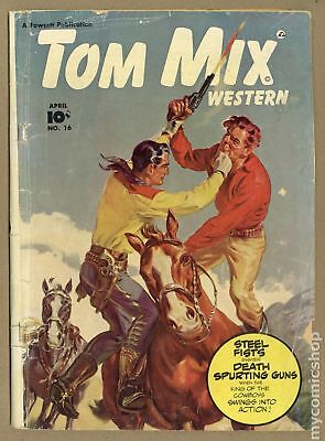 Tom Mix Western (Fawcett) #16 1949 GD 2.0