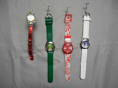 Lot of 4 Christmas themed wrist watches
