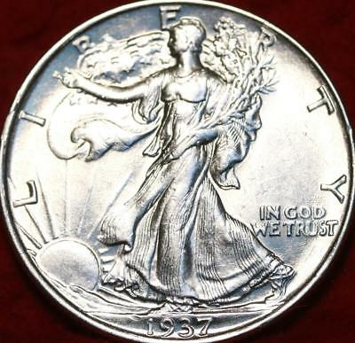 Uncirculated 1937 Philadelphia Mint Silver Walking Liberty Half