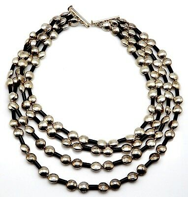 BEAUTIFUL Sterling Silver Ladies Stranded Necklace