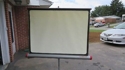 "VTG Da-Lite Versatol 30"" x 40"" Portable Projector Slide Movie Screen"