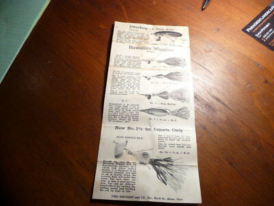 Vintage Fishing Lure Paper Advertisement from Fred Arbogast & Co.