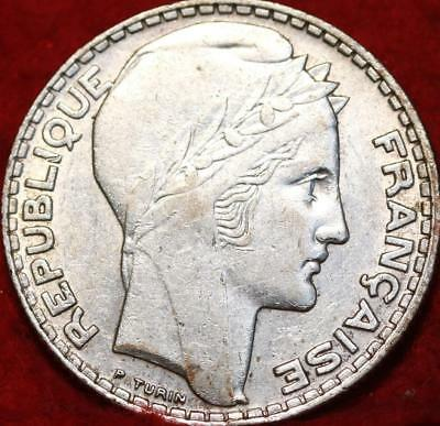 1933 France 10 Francs Silver Foreign Coin