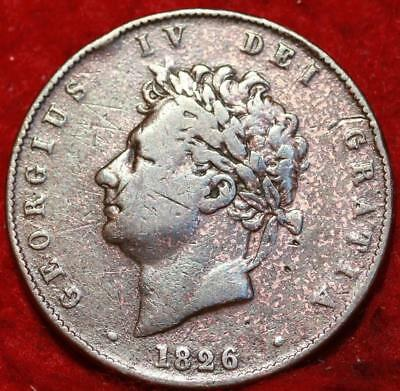 1826 Great Britain 1/2 Penny Foreign Coin