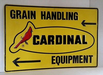 Cardinal Equipment Sign Advertising Grain Handling Highly Embossed Metal 36""