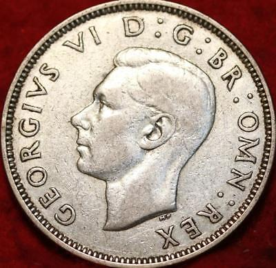 1939 Great Britain Two Shillings Silver Foreign Coin
