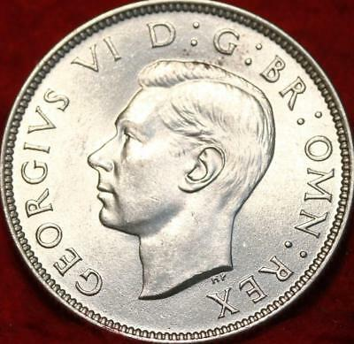 Uncirculated 1946 Great Britain Two Shillings Silver Foreign Coin
