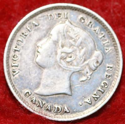 1896 Canada 10 Cents Silver Foreign Coin