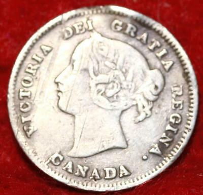 1897 Canada 10 Cents Silver Foreign Coin