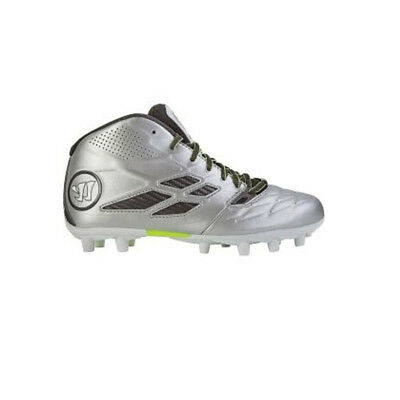 NEW Junior Warrior Lacrosse Burn 8.0 Cleats Youth Silver/Grey Size 4 Y