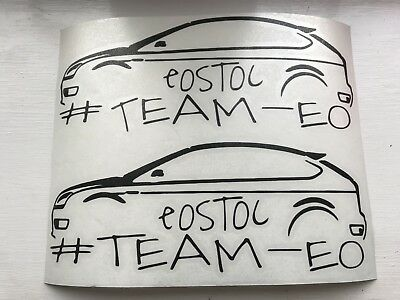 New Style eoSToc Electric Orange St Owners Club Stickers