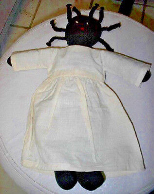 "Pickaninny Rag Doll 12"" Tall In Muslin Dress Nwot"