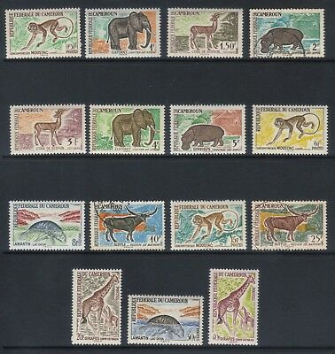 FRENCH CAMEROUNS 1962 ANIMALS a) POSTAGE SET MIXED MNH AND USED