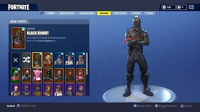 Black Knight & Royale Knight Fortnite Account *super Rare Items And Skins*