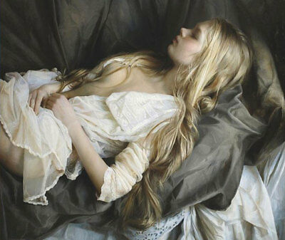 ZWOPT611 sexy charm girl sleeping 100% hand painted art oil painting canvas