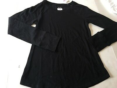 JUSTICE GIRLS Shirt 14 NWT Black LONG SLEEVE TOP 14 NEW