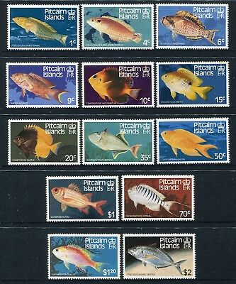 1984 Pitcairn Island Fish (Definitives) - MUH Complete Set of 13