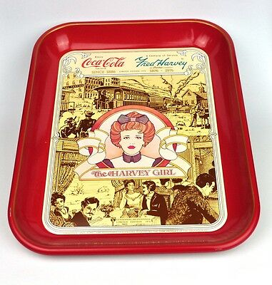 Coca-Cola Coke Blech Tablett USA Serviertablett Fred Harvey Girl - Jahr 1976