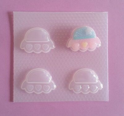 Small UFO Alien Spaceship Resin Mold Mould Craft Flexible Plastic Kawaii Molds