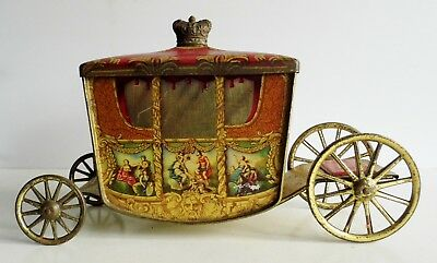 Extremely Rare Old Jacob & Co Coronation Coach Biscuit Tin - Circa 1937 - Superb