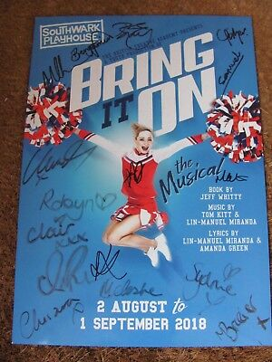 Bring It On London Musical Theatre Programme Signed By Cast