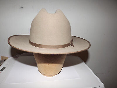 VINTAGE STETSON 4X DRESS HAT 7 1/8 F2050 OPEN ROAD with BOX