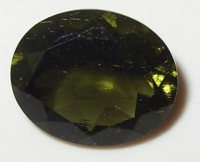 3.86ct Faceted TOP QUALITY Natural Czechoslovakia Moldavite Oval Cut 12x10mm