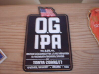 Beer pump clip badge / Advert ,  Wadsworth Brewery, Divizes, O.G. I.P.A