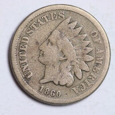 1860 Indian Head Small Cent CHOICE VG FREE SHIPPING E103 GM