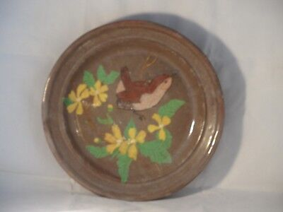Rare? Large Signed A&W? Woodland Pottery Wren On Foilage Bowl (Early Eastgate?)
