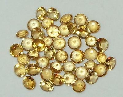 Lot 44pcs 2.35mm-2.65mm Beautiful Brazil Gold Citrine Round Cut 2.50ct SPECIAL