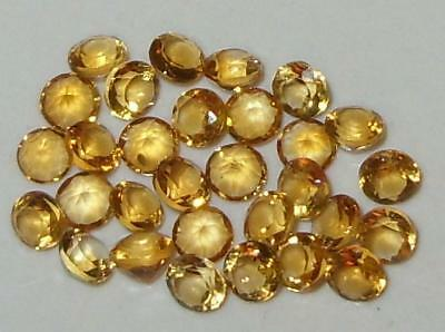 Lot 30pcs 3mm Beautiful Brazil Gold Citrine Brilliant Round Cut 2.98ct SPECIAL