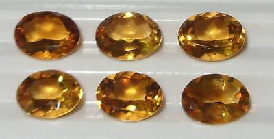 6.40ct Lot 6pcs Beautiful Brazil Citrine Oval Cut 8x6mm SPECIAL