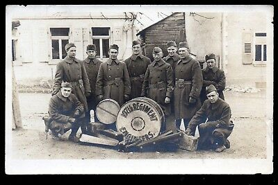 107th Regiment Engineers Band ~ Vintage Real Photo postcard  ~ RPPC