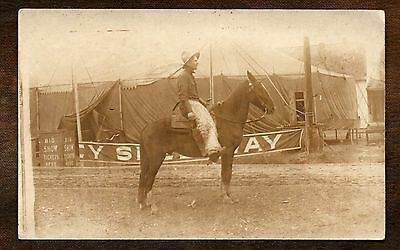 1917 Wild West ~ Big Show ~ Wooly Chaps ~ Real Photo postcard