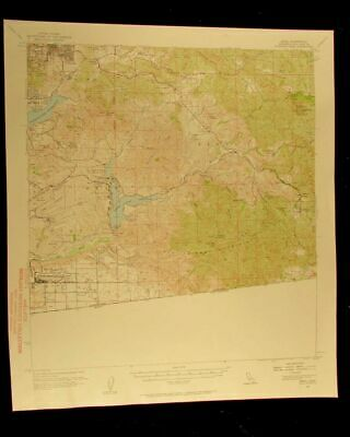 Jamul California 1958 vintage USGS Topographical chart map