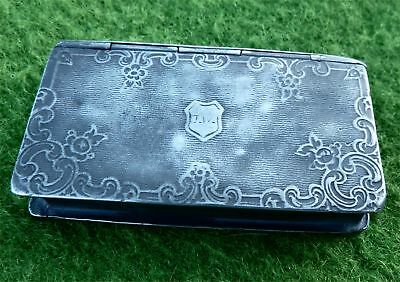 EARLY 19th CENTURY PEWTER 'BOOK SHAPED' SNUFF BOX - ESTATE CLEARANCE