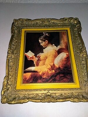 """Vintage Home Interiors and Gifts Inc. """"Young Girl Reading"""" No. 1793  Picture"""