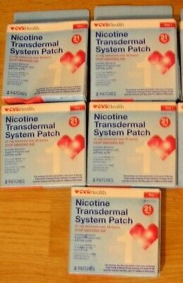 LOT E52 CVS HEALTH Nicotine Transdermal System 10 Patches Step 1 21 mg 09/2018