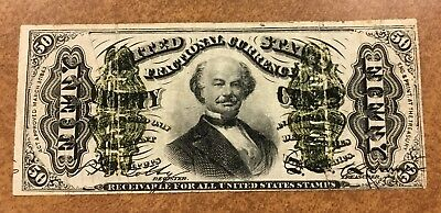 50c Fractional Currency Note. 1863 3rd issue  Spinner