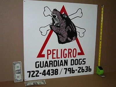 JUNK YARD DOG - Vintage OUTSIDE Sign BIG&HEAVY Protect Your CARS Show ATTACK DOG